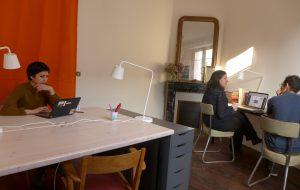 Bureau 2 : 2 postes de travail résidents & 2 postes nomades